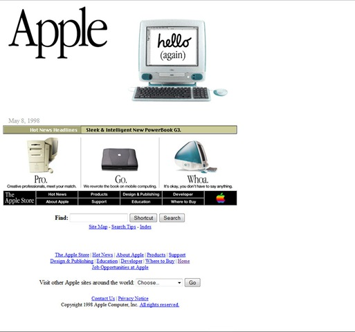apple.com website 1998