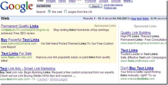 google link directory sales page